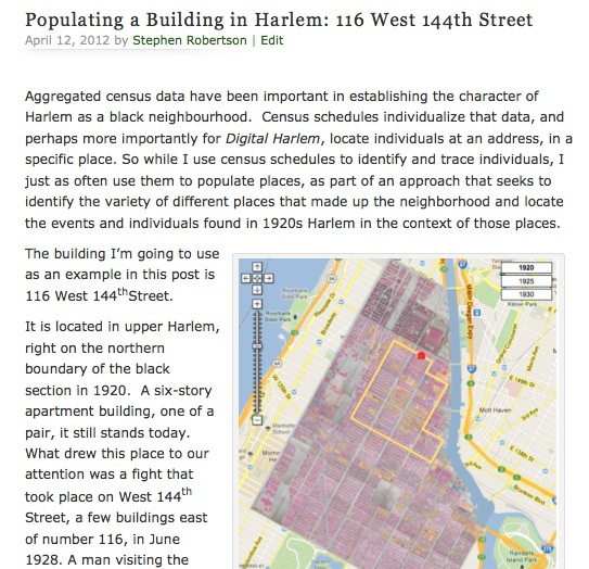 Populating a Building in Harlem