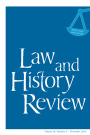 """Searching for Anglo-American Digital Legal History"" published"