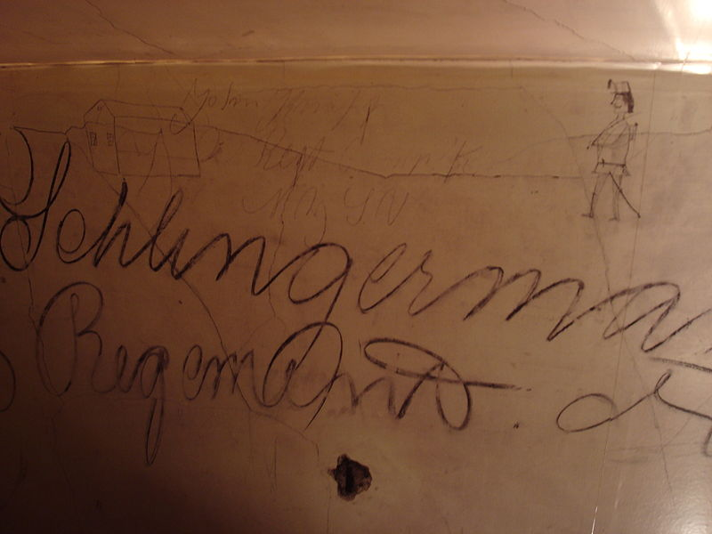 Example of inscriptions inside Historic Blenheim, Fairfax County, Virginia (Aurbanski, WikiMedia Commons)