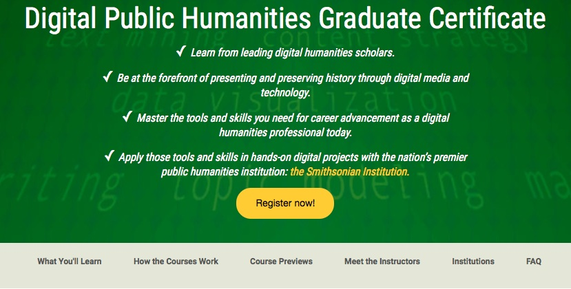 Fall 2015: Introduction to Digital Humanities – the online course