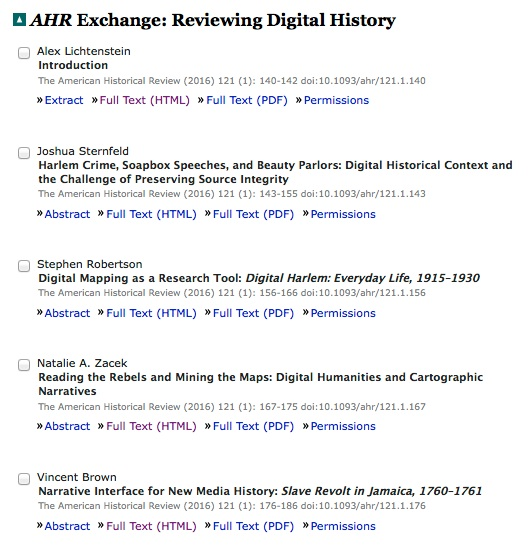 Reviewing Digital History: An Exchange on Digital Harlem in the American Historical Review